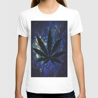marijuana T-shirts featuring Marijuana Galaxy by Megan Mayhem 17