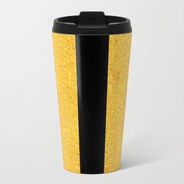 Smart Golden & Black Stripes Travel Mug