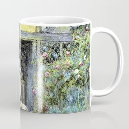 Helen Allingham - The saucer of milk - Digital Remastered Edition Coffee Mug