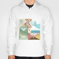 letters Hoodies featuring Love Letters by INKATURA
