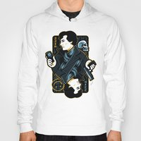 221b Hoodies featuring The Detective of 221B by WinterArtwork