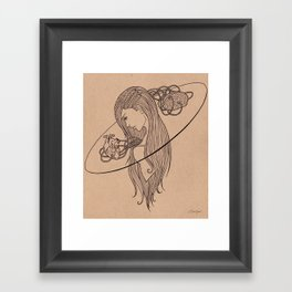 Heart and Mind Framed Art Print