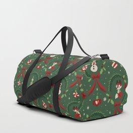 Winter Friends (Green) Duffle Bag