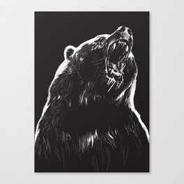 Bear, sketch 2 Canvas Print