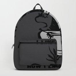 Black Coffee Black Magic Word Game Gift Backpack