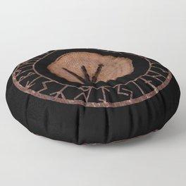 Algiz Elder Futhark Rune divinity, higher self, the state of listening, protective teaching force Floor Pillow