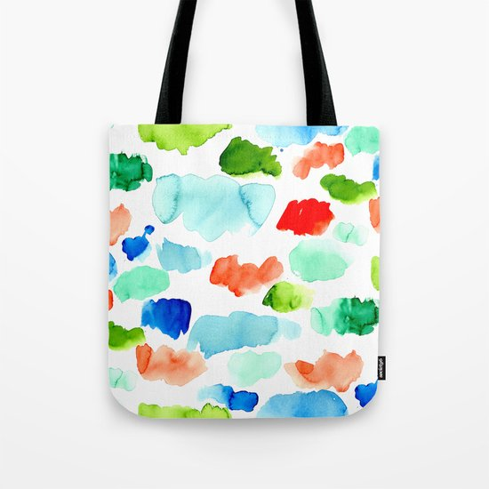 Watercolor Swatch Pattern Tote Bag