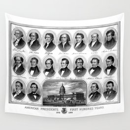 American Presidents - First Hundred Years Wall Tapestry