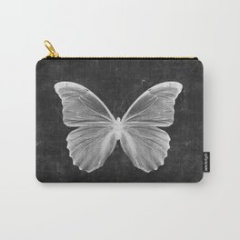 Butterfly in Black Carry-All Pouch