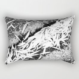 Bleached Winter Leaves Forest Fall Rectangular Pillow