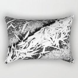 Bleached Winter Leaves Forest Fall Rectangular Pillow