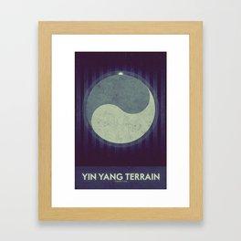 Iapetus - Yin Yang Terrain  Framed Art Print