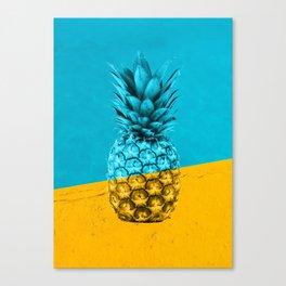 Pineapple Retro Canvas Print