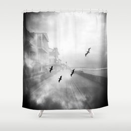"""Birds of a Feather"" Holga Double Exposure in San Diego, California Shower Curtain"