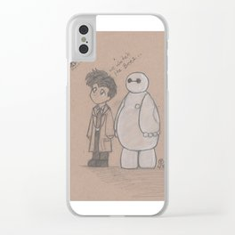 Castle and Baymax Watch the Bee's Clear iPhone Case