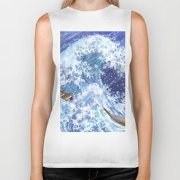 The Mighty Waves Biker Tank