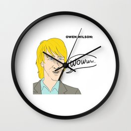 Owen Wilson Wall Clock