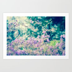 Bloom in Purple Art Print