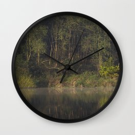 Autumnal woodland reflections Wall Clock