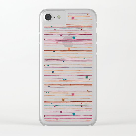 September Pattern Clear iPhone Case