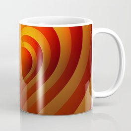 Heart in flames, reflected heart, lovely and vibrant heart. Coffee Mug