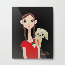 ~ Milly and Tallulah the Poodle ~ Art By Milly Moo 12 Year Old Artist Metal Print