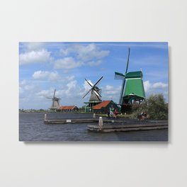 Three Windmills Metal Print