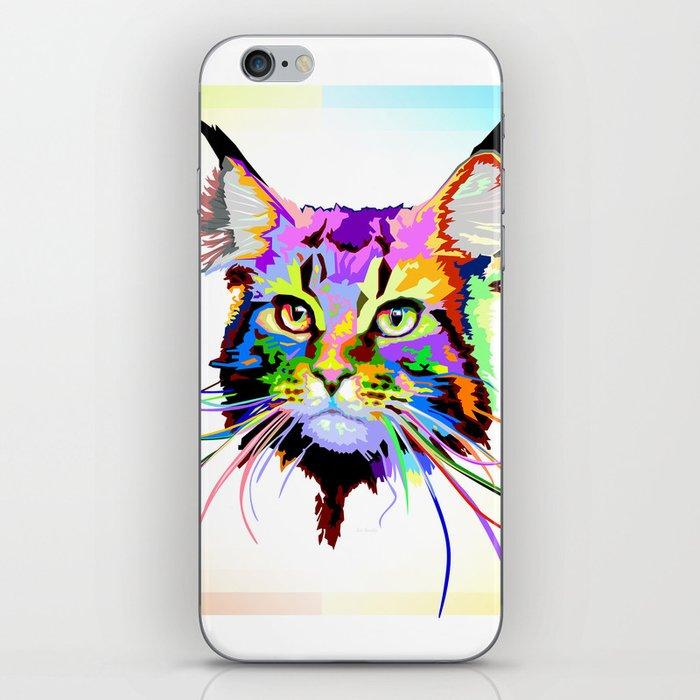 Maine coon cat iPhone Skin