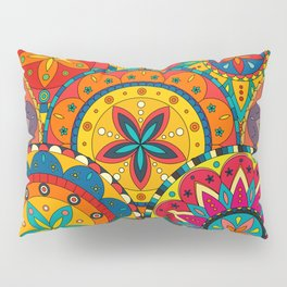 Funky Retro Pattern Mandalas Pillow Sham