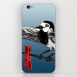 White Wagtail iPhone Skin