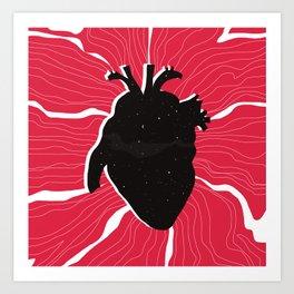 Heart full of stars Art Print