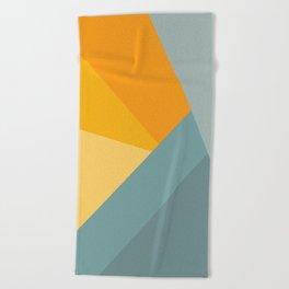 Abstract Mountain Sunrise Beach Towel