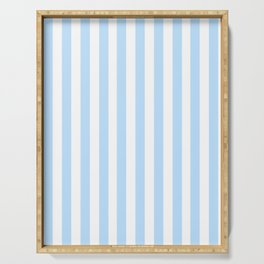 Classic Seersucker Stripes in Blue + White Serving Tray