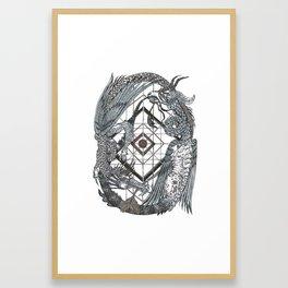 Dragon Dance Framed Art Print
