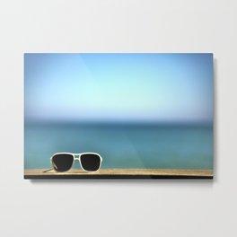 Summer Sunglasses Metal Print