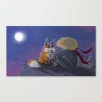 the little prince Canvas Prints featuring Little Prince by Luis Dourado
