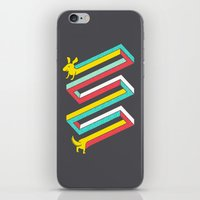 physics iPhone & iPod Skins featuring Physics doesn't apply to weiner dogs by Eleanor Lutz