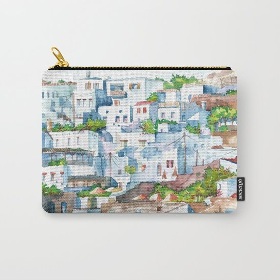 Panorama of Lindos Carry-All Pouch