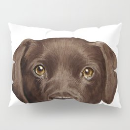 Labrador Chocolate original illustration by miart Pillow Sham