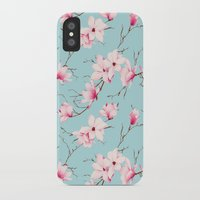 magnolia iPhone & iPod Cases featuring Magnolia by EclipseLio