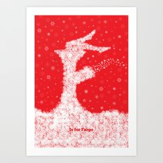 F is for Fargo Art Print