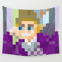 Gene Wilder Pixel Art Wall Tapestry