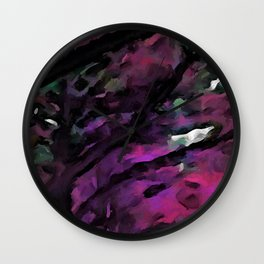 Pink and Purple Avenue of Trees 1 Wall Clock