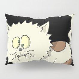 Cat-astrophe - cat in electric shock Pillow Sham