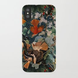 Birds and snakes iPhone Case
