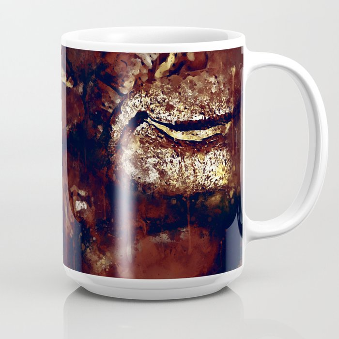 big coffee beans splatter watercolor Coffee Mug