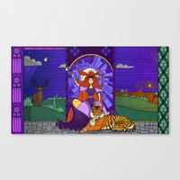 stained glass Canvas Prints featuring Stained glass by Rafapasta