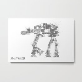 Star Wars Vehicle AT-AT Walker Metal Print