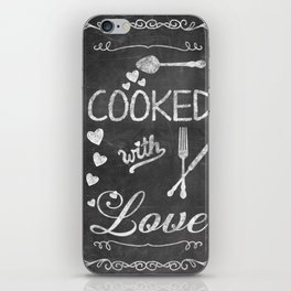 Cooked with Love Retro Chalkboard Sign iPhone Skin