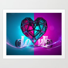 Love 1/2 Blue side Art Print
